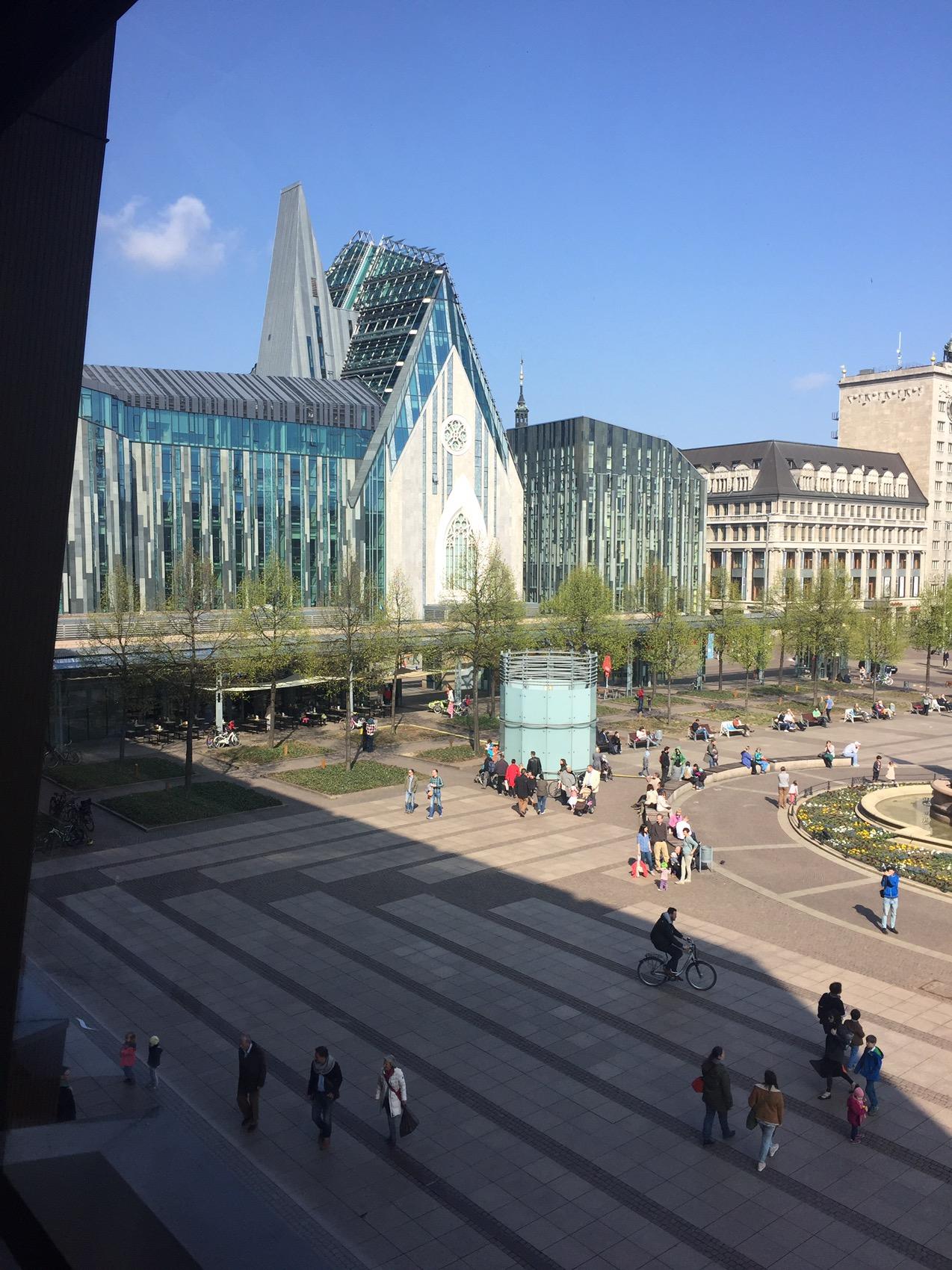 Universitätscampus, Blick auf das Augusteum und das Paulinum