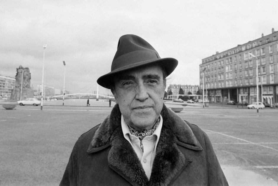 Brazilian architect Oscar Niemeyer in Le Havre, France, on February 17, 1977.